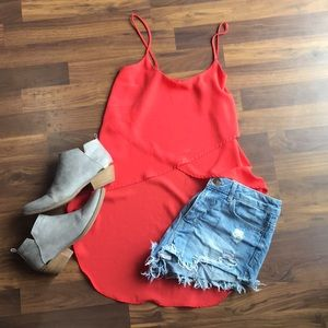 Coral/red Hi/Low Tank, Small